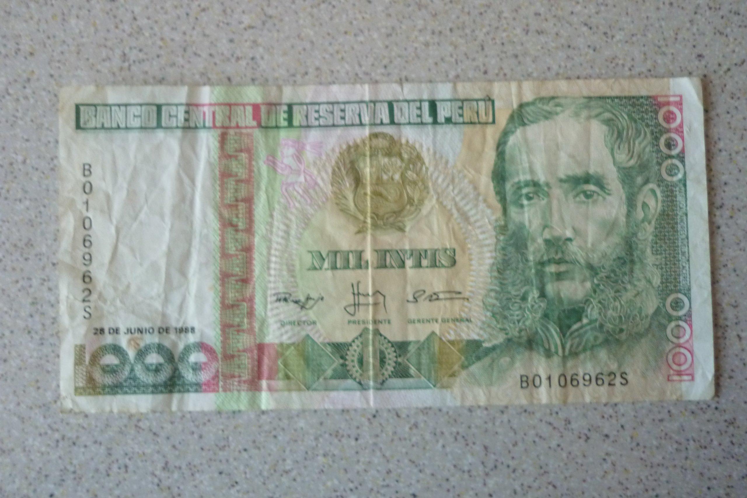 Peru - 1000 intis