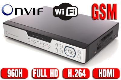 HYBRYDOWY rejestrator 960H 8 kamer HDMI WiFi GSM