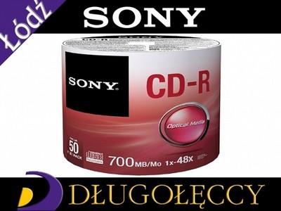 SONY PŁYTY CD-R 700MB x48 2x50 ŁĄCZNIE 100 SZTUK
