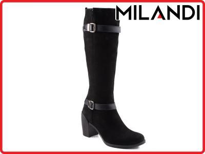 c6206edfc61b7 0057K-061 Marco Shoes kozaki czarne z nubuku 36 - 5872039587 ...
