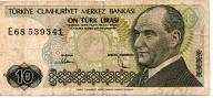 Turcja 10 Lira 1982 P-193a.1