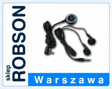 SŁUCHAWKI Z PILOTEM / PSP SLIM CZARNE /ROBSON