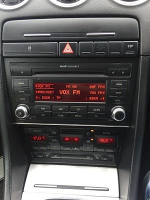 radio audi cabrio a4 b6 b7 seat exeo concert + kod - 6818162159