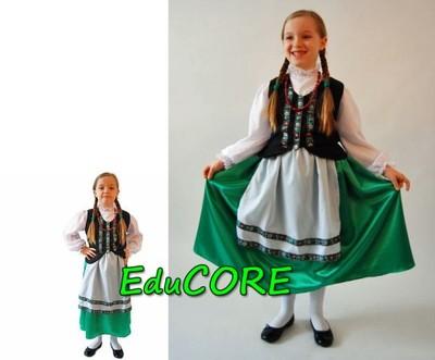 b204033fac0a20 GÓRALKA folklor Tatry kostium 122/128 EduCORE - 6372215429 ...