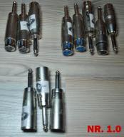 Zestaw przejściówek/redukcje 17 szt. XLR-JACK-RCA