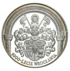1790. 10zł 2000, 1000-lecie Wrocławia, st.L