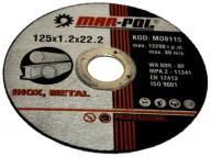 TARCZA DO CIĘCIA METALU 125mm x1,2mm x22,2