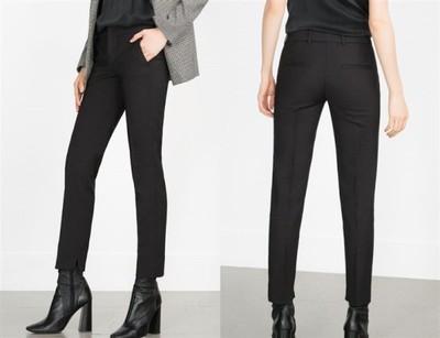 ZARA Woman Czarne Spodnie Cygaretki M38