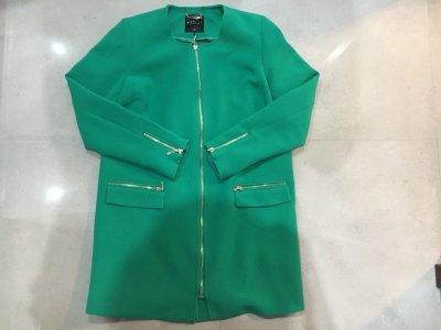 Cudny płaszcz zielony Mohito zamki r.38/M