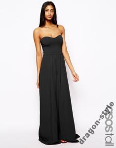 ASOS sukienka maxi długa bez ramiączek cudo 36 S