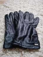 Rękawiczki skórzane RESERVED czarne rozm. L męskie