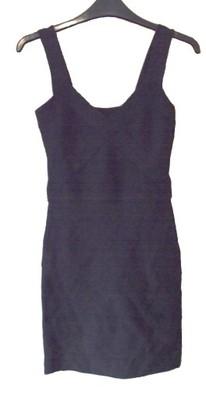 Czarna bandażowa sukienka mini MELROSE