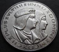 Stary Medal Pamiątkowy Kolumb srebro (333)