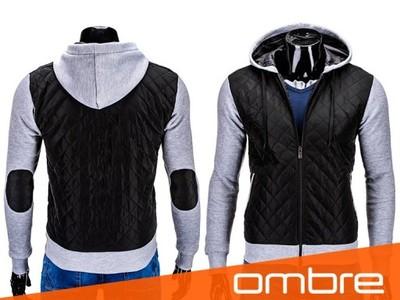 Pikowana kurtka męska OMBRE C182 czarny XL