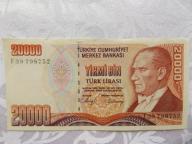 TURCJA 20000 LIRÓW 1970 r.St. ( 2/2+ )