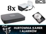 ZESTAW DO MONITORINGU NA 8 KAMER BCS HDCVI HD FV