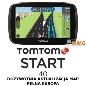 TOMTOM START 40 nawigacja samochodowa GPS LifeTime