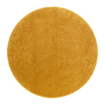 Ikea Adum Dywan Okrągły śr 130 Cm żółty 6841039328