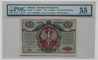 5 mkp 1916 Generał - Biletów  PMG 55  HIT