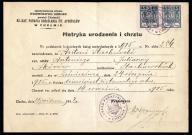 Metryka urodzenia i chrztu 1948 opłata stemplowa