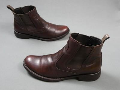 2390b0ee7b704 ECCO skórzane buty półbuty sztyblety 43 - 6642217465 - oficjalne ...