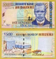 -- MALAWI 500 KWACHA 2005 AC P56a UNC