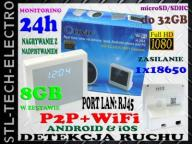 MINI KAMERA ZEGAR WiFi P2P FULLHD Android iOS +8GB