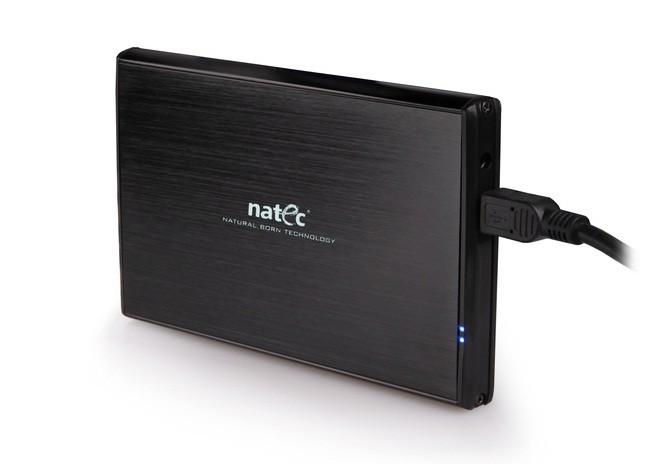NATEC KIESZEŃ NA DYSK USB 3.0 HDD SSD 2,5 ALU NRML