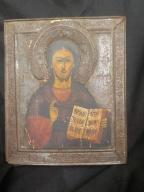 IKONA JEZUS PANTOKRATOR XVIII/XIX WIEK ROSJA