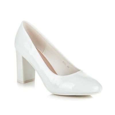 Wygodne Białe Buty ślubne Na Słupku 40 38 6888547886 Oficjalne