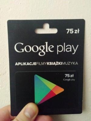 Karta Podarunkowa Google Play 75 Zl 6694901789 Oficjalne