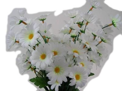 K Sztuczne Kwiaty Margaretki Białe Gałązka 6844540406 Oficjalne
