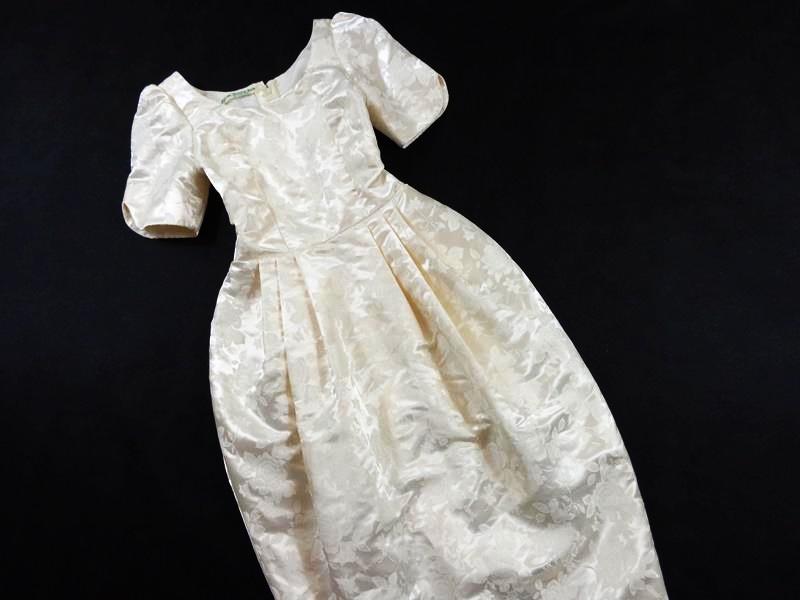 5f7dc072e6 36 38 Kremowa Suknia ślubna Krótki Rękaw Zip W75 6999330962