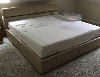 łóżko Kler 180 Cm Milonga Stelaż Tempur Flex 50