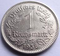 1 Reichsmark 1938 A stan! (Xg8)