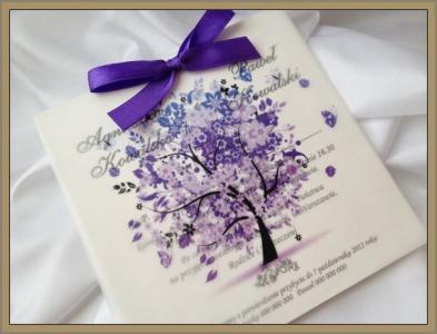 Zaproszenia ślubne Kalka Tree 60 Sztuk 5136814455 Oficjalne