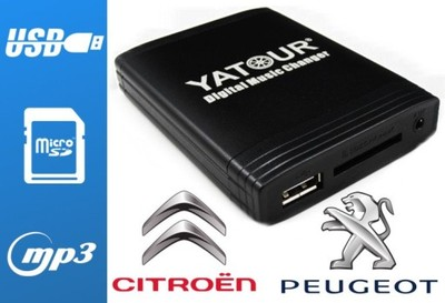 ZMIENIARKA MP3 USB SD AUX CITROEN PEUGEOT xCarLink