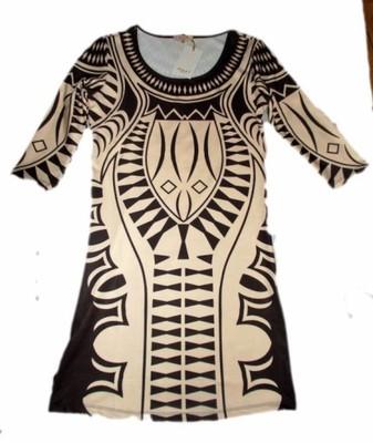 Sukienka W Tatuaże Celtyckie Wzory Cappuccino 6604953974