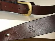 Butikowy pasek skórzany do gitary marki BEAR (UK)