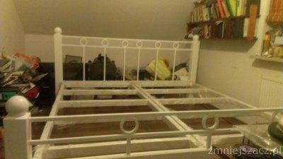 łóżko Metalowe 200x220 6094607032 Oficjalne Archiwum Allegro