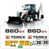 TEREX 860 sx naklejki naklejka