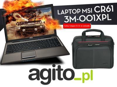 Laptop MSI CR61 Dual Core 4GB 500GB HD8210G +TORBA
