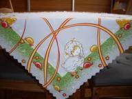 Biały Kwadrat Świąteczny 80/80 Obrus Serweta Druk