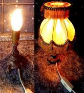 LAMPKA MOSIĘŻNA Z ABAŻUREM