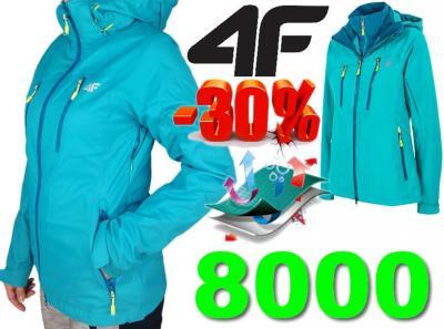 33% Kurtka 4F KUDT001 3w1 8000 SOFTSHELL r. L
