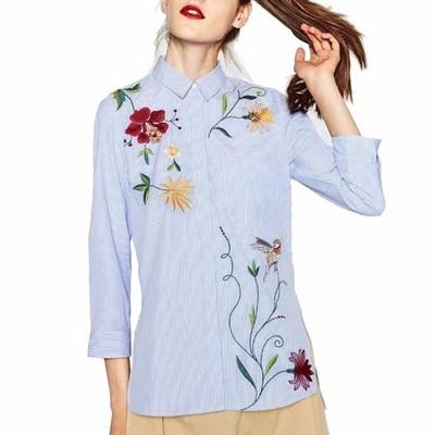 Koszula j ZARA haft wyszywane kwiaty s m l
