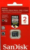 SanDisk Karta Pamięci 2GB M2 do telefonów