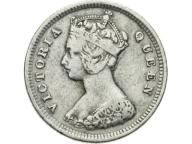 HONG-KONG 10 CENT 1888 ROK VICTORIA st.3 srebro