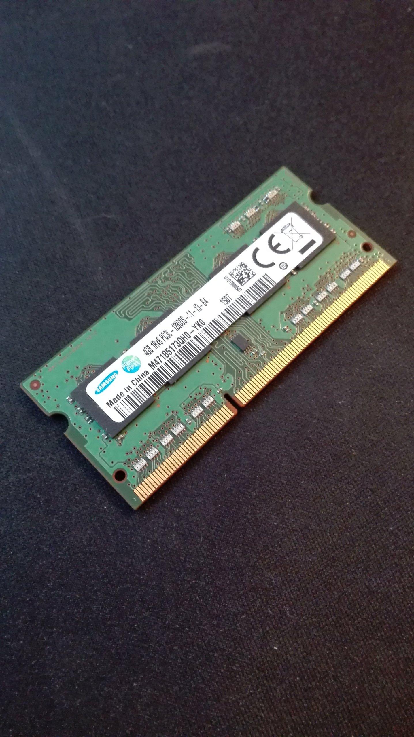 RAM SODIMM DDR3 4GB 1600MHz Samsung PC3L-12800S