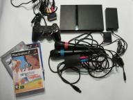 SONY PS2 SLIM - GRY - PAD - KARTA - SINGSTAR